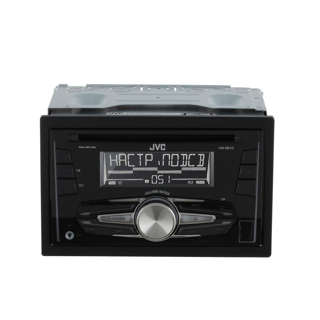 Купить Автомобильная магнитола с CD MP3 JVC KW-R510EED недорого  Москва, Екатеринбург, Уфа, Новосибирск
