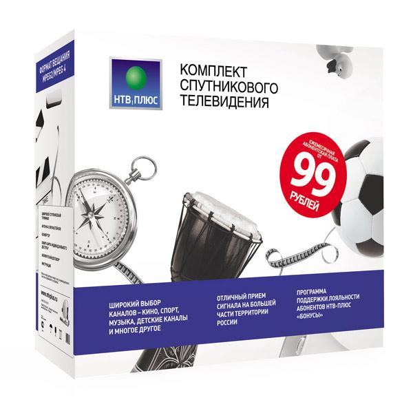 Комплект спутникового ТВ НТВ-Плюс SD MPEG4 + договор - купить в М ...