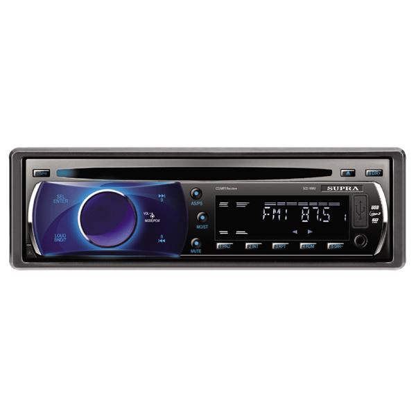 Автомобильная магнитола с CD MP3 SupraАвтомобильные магнитолы с CD MP3<br>Выход RCA аудио: 1,<br>Подсветка кнопок: синяя,<br>Страна: КНР,<br>Кабель USB: доп.опция,<br>Гарантия: 1 год,<br>Размер установочного места: 1 DIN,<br>Съемная панель: Да,<br>Вход 3.5 мм аудио: 1 (фронтальный),<br>Порт USB: 1 х тип А (фронтальный),<br>Ном. выходная мощность: 4 x 22 Вт,<br>Установочный набор: в комплекте,<br>Макс. выходная мощность: 4 x 50 Вт,<br>Тип дисплея: текст./символьный,<br>Футляр для съемной панели: в комплекте,<br>Разъем под SD/SDHC: 1,<br>Воспроизведение CD/-R/-RW: Да,<br>Фиксированные настройки тюнера: 30 УКВ+FM/AM<br>