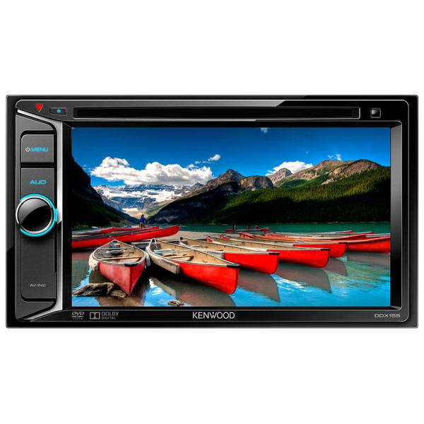 Автомобильная магнитола с DVD + монитор Kenwood DDX155