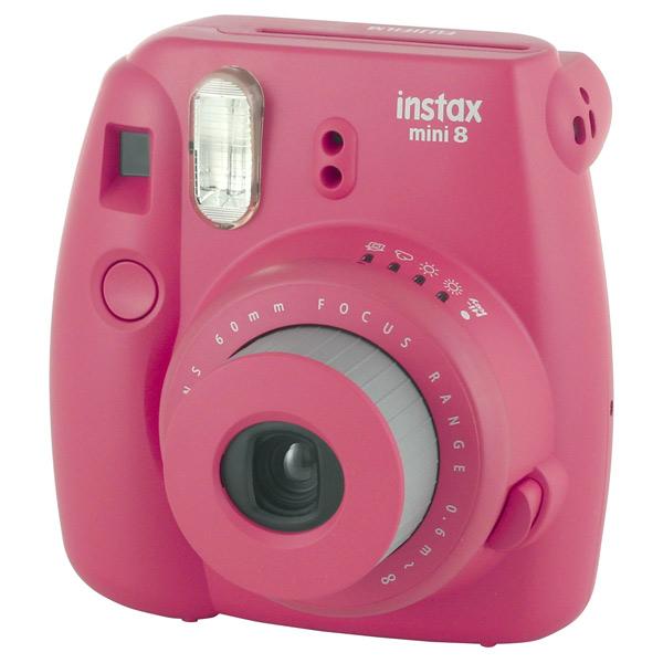 Фотоаппарат моментальной печати Fujifilm Instax Mini 8 Raspberry fujifilm instax mini 70 black фотокамера мгновенной печати colorfilm instax mini 10 2pk картридж
