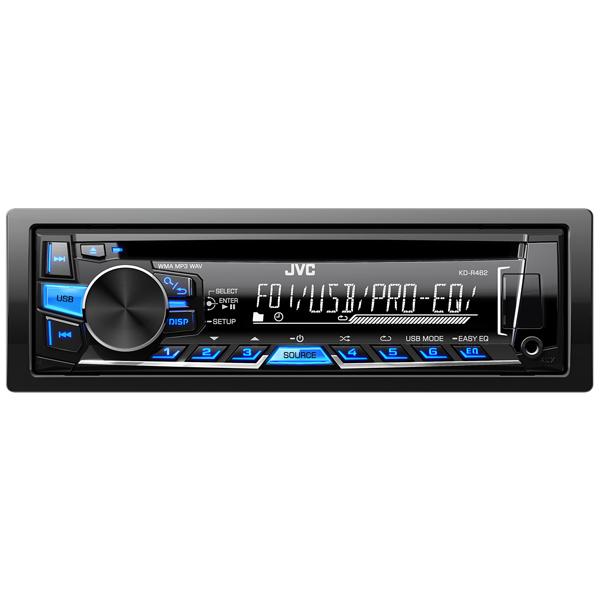 Автомобильная магнитола с CD MP3 JVC KD-R462EYD  Москва, Екатеринбург, Уфа, Новосибирск
