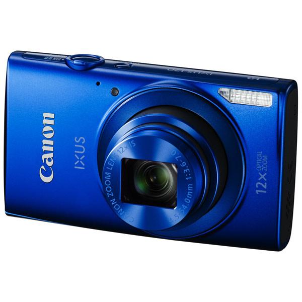 Фотоаппарат компактный CanonЦифровые компактные фотоаппараты<br>Вид гарантии: гарантийный талон,<br>Распознавание: лиц,<br>Ширина: 100 мм,<br>Глубина: 23 мм,<br>Минимальная дистанция съемки: от 1 см,<br>Цвет: синий,<br>Высота: 58 мм,<br>Тип аккумулятора: Li-Ion,<br>Порт USB: miniUSB 2.0,<br>Дальность действия вспышки: 3 м,<br>Страна: КНР,<br>Гарантия: 2 года,<br>Емкость аккумулятора: 800 мАч,<br>Алгоритм сжатия MOV: Да,<br>Алгоритм сжатия JPEG: Да,<br>Работа под Windows: XP, Vista, Windows 7, 8,<br>Работа под Mac OS: X 10.8 и выше,<br>Используемая оптика: Canon Zoom Lens,<br>Материал корпуса: металл/ пластик<br>