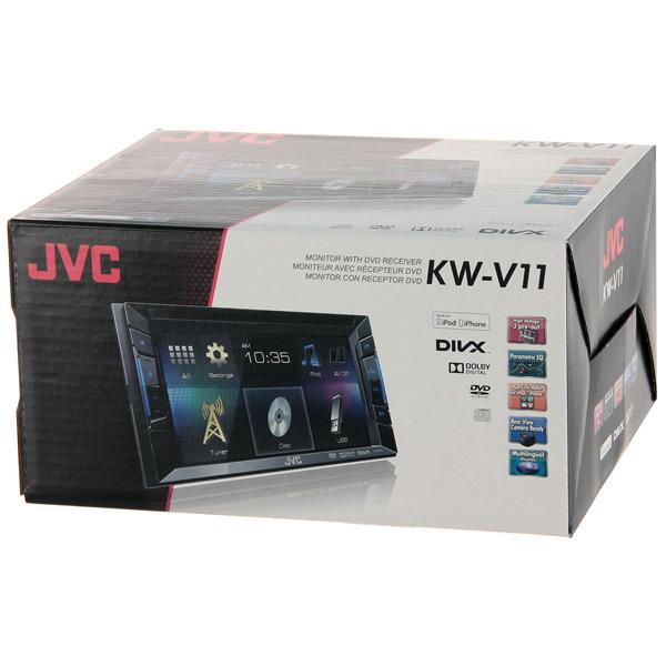 Купить Автомобильная магнитола с DVD + монитор JVC KW-V11EED недорого  Москва, Екатеринбург, Уфа, Новосибирск
