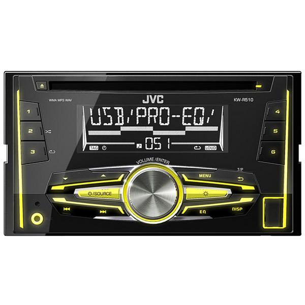 Автомобильная магнитола с CD MP3 JVC KW-R510EED  Москва, Екатеринбург, Уфа, Новосибирск