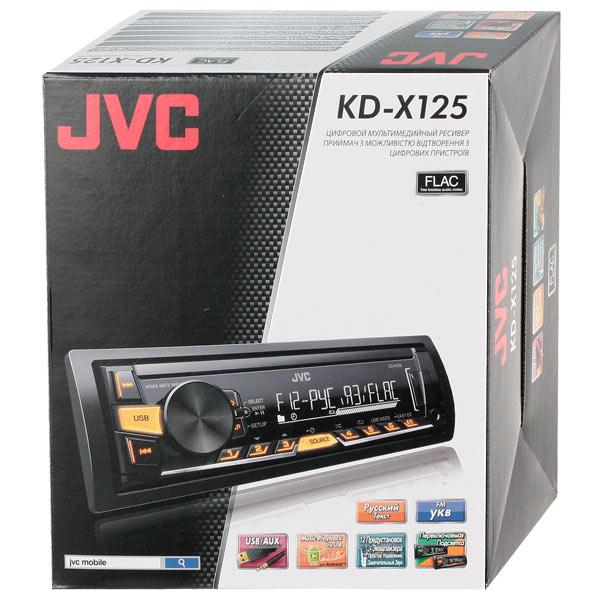 Купить USB-Автомагнитола JVC KD-X125EED недорого  Москва, Екатеринбург, Уфа, Новосибирск