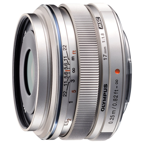 Объектив Olympus 17mm f/1.8 Silver liberty project чехол флип для lenovo a390 black