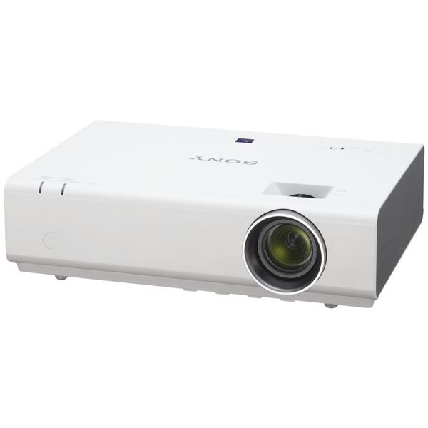 Видеопроектор мультимедийный SonyМультимедийные проекторы<br>Вход 3.5 мм аудио: 1,<br>Воспр. медиафайлов из сети LAN: Да,<br>Воспр. JPEG с цифр. носителей: Да,<br>Вид гарантии: гарантийный талон,<br>Масштабирование: 1.6x,<br>Макс. расстояние до экрана: 11.9 м,<br>Порт USB 2.0 тип A: 1,<br>Вход RCA видео композитный: 1,<br>Вес: 4 кг,<br>Срок службы лампы: 10000 ч,<br>Встроенная акустическая система: Да,<br>Кабель композитный: доп.опция,<br>Подключение к сети LAN: Да,<br>Мощность лампы: 210 Вт,<br>Потолочный подвес: доп.опция,<br>Вход miniD-Sub видео: 2,<br>Мин. расстояние до экрана: 1.2 м,<br>Порт RS 232: 1<br><br>Ширина см: 36.5<br>Вес кг: 4<br>Глубина см: 26<br>Высота см: 10.5<br>Цвет : белый