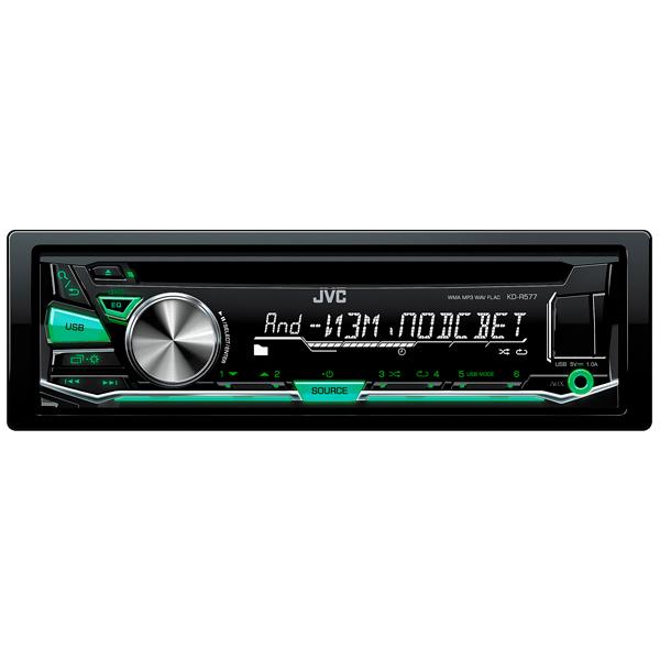 Автомобильная магнитола с CD MP3 JVC KD-R577  Москва, Екатеринбург, Уфа, Новосибирск