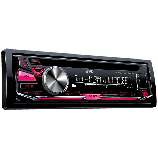 Купить Автомобильная магнитола с CD MP3 JVC KD-R577 недорого  Москва, Екатеринбург, Уфа, Новосибирск