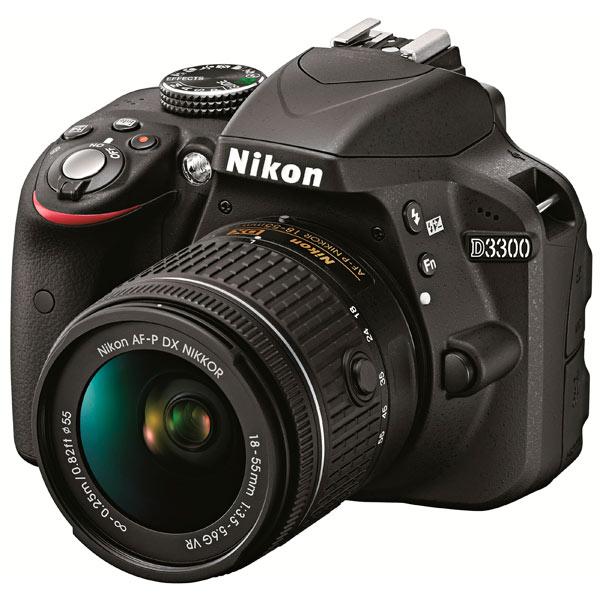 Фотоаппарат зеркальный Nikon D3300 Kit 18-55 AF-P Black
