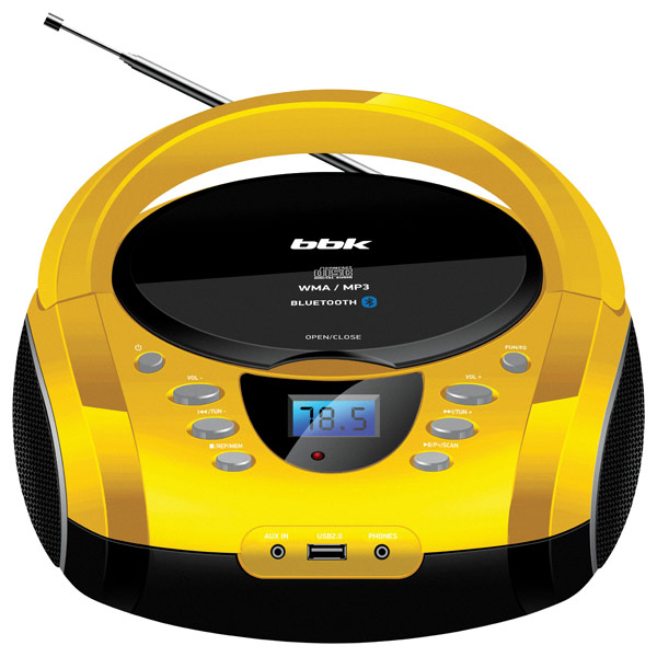 Магнитола BBK BX165BT Black/Yellow