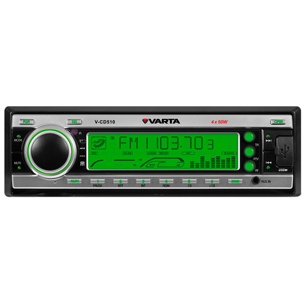 Автомобильная магнитола с CD MP3 Varta V-CD510 Silver G