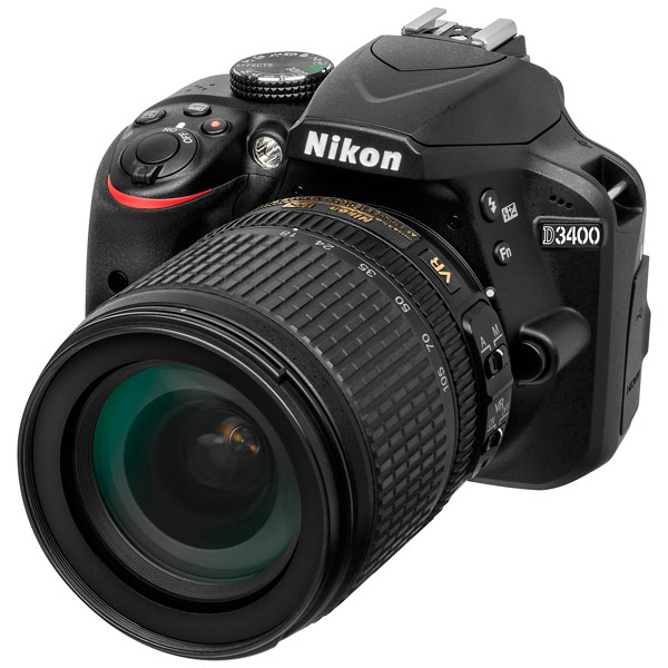 Nikon, Фотоаппарат зеркальный, D3400 Black+AF-S NIKKOR 18-105mm f3.5-5.6 G ED VR