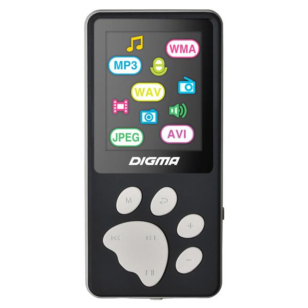 Портативный медиаплеер Digma S3 черный/серый