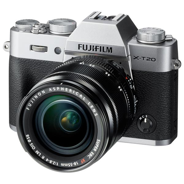 Фотоаппарат системный Fujifilm X-T20 KIT 18-55 Silver фотоаппарат fujifilm x t1 body graphite silver edition