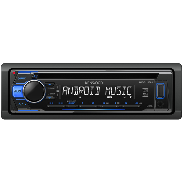 Автомобильная магнитола с CD MP3 Kenwood KDC-110UB + USB Flash карта 8Gb