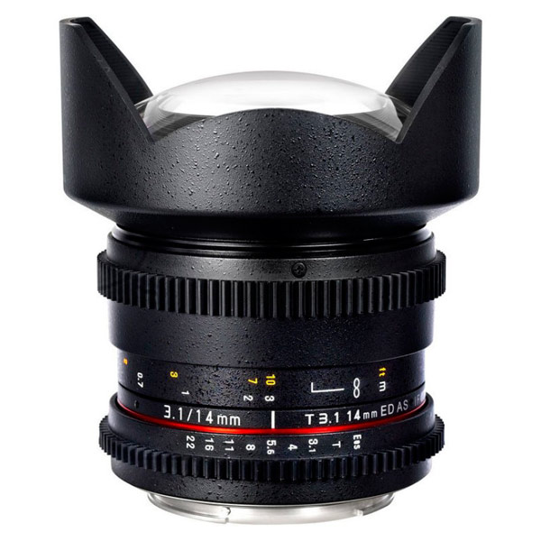 Объектив Samyang 14mm T3.1 ED AS IF UMC VDSLR II Canon EF объектив samyang canon m mf 16 mm t2 2 as ed umc cs ii vdslr ii