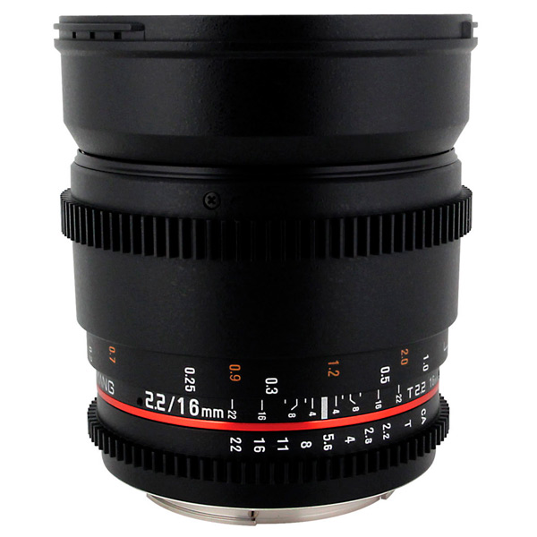 Объектив Samyang 16mm T2.2 ED AS UMC CS VDSLR Canon EF объектив samyang canon m mf 16 mm t2 2 as ed umc cs ii vdslr ii