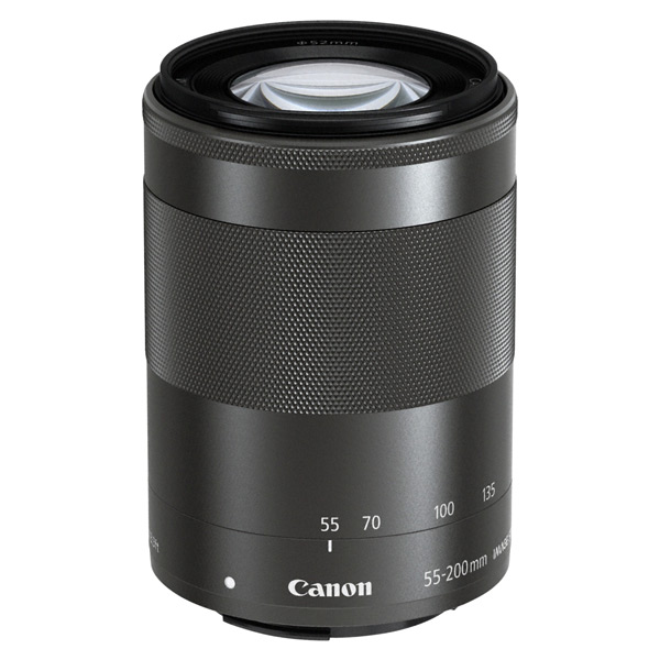 Canon EFM 55-200mm f/4.5-6.3 IS STM Black