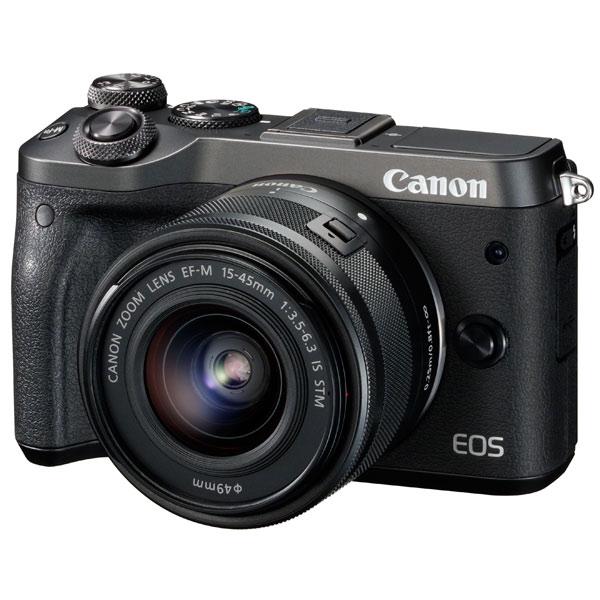 Фотоаппарат системный премиум Canon EOS M6 EF-M15-45 IS STM Kit