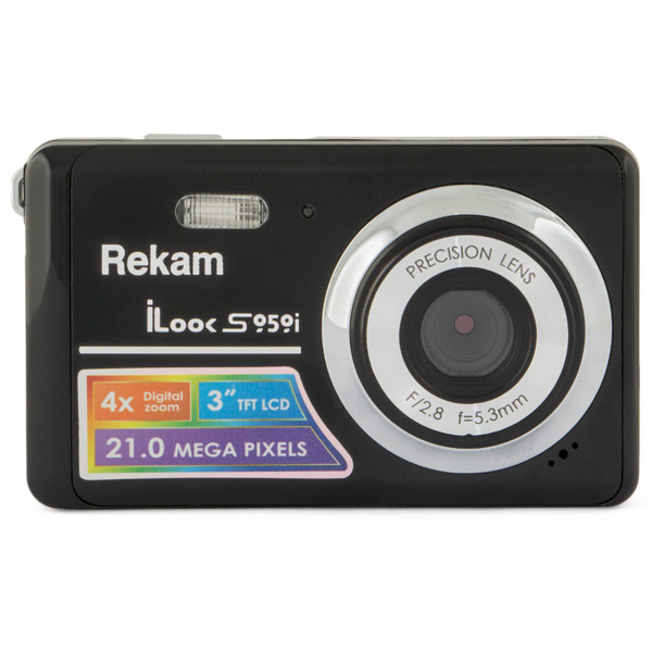 Фотоаппарат компактный Rekam iLook S959i Black Metallic фотоаппарат rekam ilook s777i red
