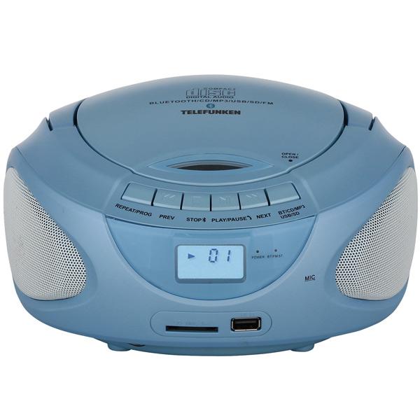 цены  Магнитола Telefunken TF-CSRP3490B Blue