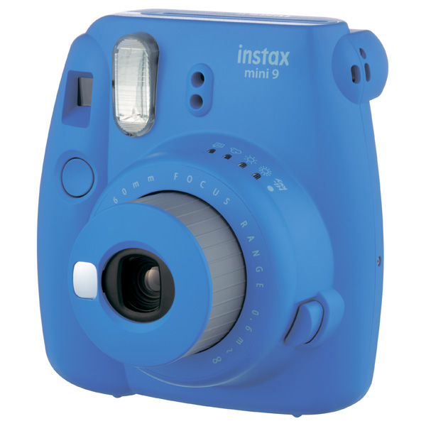 Фотоаппарат моментальной печати Fujifilm Instax Mini 9 Cobalt Blue fujifilm instax mini 70 black фотокамера мгновенной печати colorfilm instax mini 10 2pk картридж
