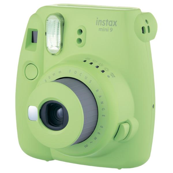 Фотоаппарат моментальной печати Fujifilm Instax Mini 9 Lime Green fujifilm instax mini 70 black фотокамера мгновенной печати colorfilm instax mini 10 2pk картридж