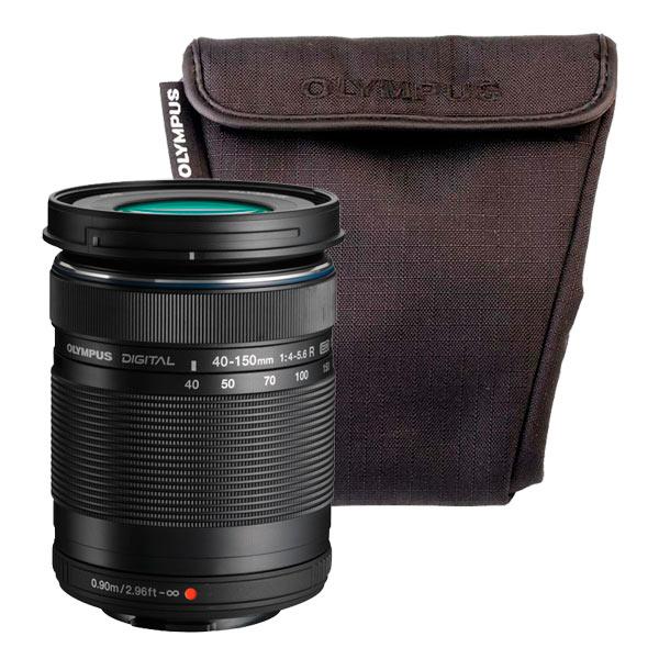 Объектив Olympus 40-150mm 1:4.0-5.6 R черный + OM-D Wrapping case