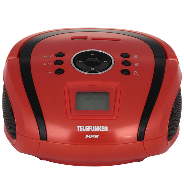 Магнитола Telefunken TF-SRP3449 Red with Black