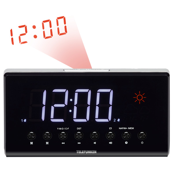Радио-часы Telefunken TF-1552 Black