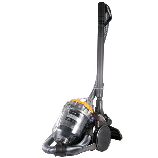 Пылесос с контейнером для пыли DysonПылесос с контейнером для пыли<br>Авт. сматывание шнура: Да,<br>Отключение при перегреве: Да,<br>Тип трубки: телескопическая,<br>Регулировка мощности: на ручке,<br>Вертикальная парковка: Да,<br>Выходной фильтр: микрофильтр,<br>Длина сетевого шнура: 6.5 м,<br>Сухая уборка: Да,<br>Страна: Малайзия,<br>Крепление насадок: на ручке,<br>Тип управления: механический,<br>Гарантия: 5 лет,<br>Уровень шума: 83 дБ,<br>Базовый цвет: серебристый,<br>Вид гарантии: гарантийный талон,<br>Цвет: серебр./желтый,<br>Насадка турбощеткa: доп. опция,<br>Потребляемая мощность: 1400 Вт<br>