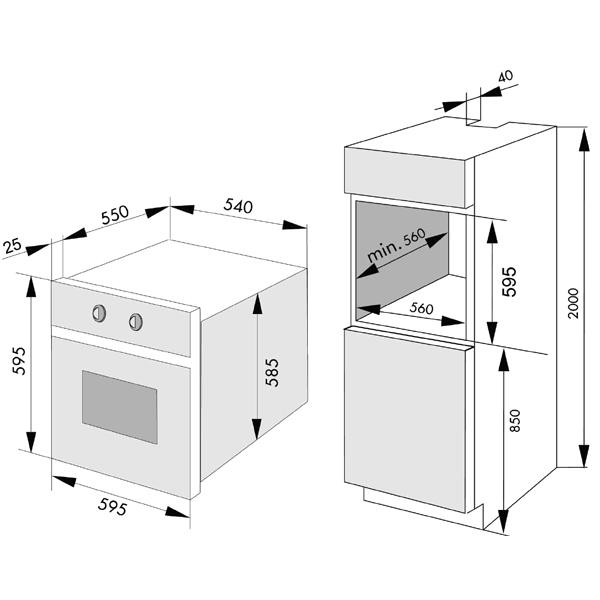Встраиваемый электрический духовой шкаф LG