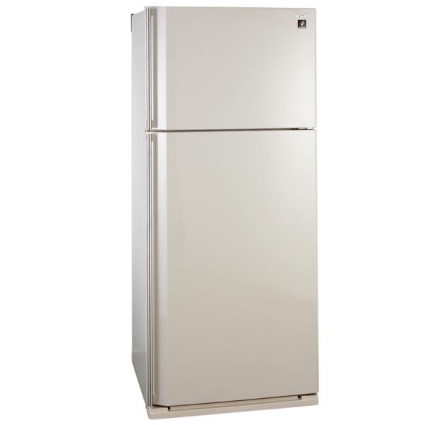Холодильник с верхней морозильной камерой Широкий SharpШирокие холодильники с верхней морозильной камерой<br>Цвет: бежевый,<br>Объем холодильной камеры: 433 л,<br>Объем морозильной камеры: 150 л,<br>Класс энергоэффективности: A,<br>Ширина: 80 см,<br>Расположение мороз.камеры: верхнее,<br>Кронштейн для бутылок: Да,<br>Высота: 185 см,<br>Глубина: 73 см,<br>Вес: 88 кг,<br>Система No Frost: в холодильном и морозильном отделении,<br>Энергопотребление в год: 417 кВтч,<br>Подставка для яиц: 1 х 12 шт,<br>Мощность замораживания: 7 кг/сутки,<br>Вид гарантии: гарантийный талон,<br>Климатический класс: ST,<br>Количество камер: 2,<br>Объем зоны свежести: 16 л<br><br>Вес кг: 88<br>Ширина см: 80<br>Глубина см: 73<br>Высота см: 185<br>Цвет : бежевый