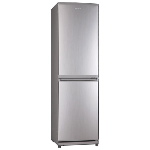 Холодильник с нижней морозильной камерой ShivakiХолодильники с нижней морозильной камерой<br>Тип компрессора: стандартный,<br>Объем морозильной камеры: 54 л,<br>Объем холодильной камеры: 106 л,<br>Материал полок: стекло,<br>Глубина: 54 см,<br>Ванночки для льда: 1 шт,<br>Высота: 155 см,<br>Расположение мороз.камеры: нижнее,<br>Цвет: серебристый,<br>Класс энергоэффективности: A,<br>Вес: 44 кг,<br>Габаритные размеры (В*Ш*Г): 155*45*54 см,<br>Установка вплотную к стене: Да,<br>Ширина: 45 см,<br>Энергопотребление в год: 267 кВтч,<br>Количество компрессоров: 1,<br>Базовый цвет: Серебристый,<br>Полок в холодильной камере: 3<br><br>Ширина см: 45<br>Вес кг: 44<br>Глубина см: 54<br>Высота см: 155<br>Цвет : серебристый