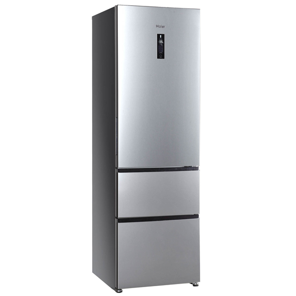 Холодильник с нижней морозильной камерой HaierХолодильники с нижней морозильной камерой<br>Тип компрессора: стандартный,<br>Ящиков в универсальной камере: 1 шт,<br>Цвет: серебристый,<br>Универсальная камера: Да,<br>Ванночки для льда: 1 шт,<br>Звук.сиг. двери холод.к-ры: Да,<br>Страна: КНР,<br>Тип дисплея: сенсорный,<br>Звук.сиг. повышения темп.: Да,<br>Вентилятор для распр. темп.: Да,<br>Гарантия: 1+2 года,<br>Базовый цвет: Серебристый,<br>Режим суперзамораживания : автоматический,<br>Полок в холодильной камере: 5,<br>Регул. влаж. в отд. д/овощей и фруктов: Да,<br>Перенавешиваемые двери: Да,<br>Материал полок: стекло<br>