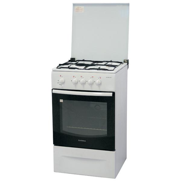 Газовая плита (50-55 см) DarinaГазовые плиты (50-55 см)<br>Максимальная температура: 270 *С,<br>Страна: Россия,<br>Гарантия: 2 года,<br>Тип духовки: газовый,<br>Внутреннее покрытие: эмаль,<br>Газконтроль духовки: Да,<br>Крышка варочн. поверхности: металлическая,<br>Объем духовки: 50 л,<br>Защита от случайного вкл.: Да,<br>Решетка: эмалированная,<br>Ящик для посуды: откидной,<br>Стекло дверцы духовки: 2-слойное,<br>Режимы работы духовки: 1,<br>Количество конфорок: 4,<br>Ширина: 50 см,<br>Высота: 85 см,<br>Базовый цвет: белый ,<br>Габаритные размеры (В*Ш*Г): 85*50*51 см,<br>Глубина: 51 см,<br>Цвет: белый<br>