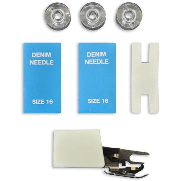 Аксессуары для швейных машин Toyota Footwork kit Denim/Jeans. Доставка по России