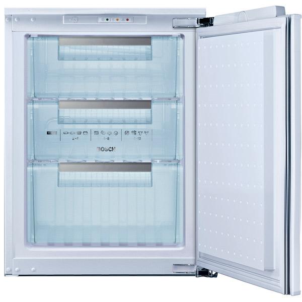Встраиваемый морозильник BoschВстраиваемые морозильники<br>Глубина: 542 мм,<br>Режим суперзамораживания : Да,<br>Высота: 712 мм,<br>Цвет: белый,<br>Хранение при откл. питания: 25 ч,<br>Память аварийной  темпер.: Да,<br>Перенавешиваемые двери: Да,<br>Страна: Германия,<br>Серия: Serie | 4,<br>Количество дверей: 1,<br>Размер ниши (В*Ш*Г): 720*560*550 мм,<br>Тип управления: механический,<br>Габаритные размеры (В*Ш*Г): 712*541*542 мм,<br>Ванночки для льда: 1 шт,<br>Базовый цвет: Белый,<br>Мощность замораживания: 10 кг/сутки,<br>Энергопотребление в год: 177 кВтч,<br>Разм. мороз. камеры: ручное,<br>Ширина: 541 мм<br><br>Вес кг: 31<br>Ширина мм: 541<br>Глубина мм: 542<br>Высота мм: 712<br>Цвет : белый