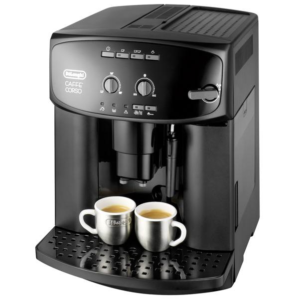Кофемашина De LonghiАвтоматические кофемашины<br>Материал корпуса: пластик,<br>Регулировка порции воды: Да,<br>Материал жерновов: нерж. сталь,<br>Способ приг. капучино: ручной,<br>Индикация отсутствия кофе: Да,<br>Рег. по высоте дозатора: 75 - 105 мм,<br>Материал решетки каплесбор: пластик,<br>Объем резерв. для зерен: 200 г,<br>Воз-ть приготов. 2 чашек: Да,<br>Тип используемого кофе: в зернах/ молотый,<br>Базовый цвет: черный,<br>Встроенная кофемолка: Да,<br>Серия: Magnifica,<br>Приготовл. кофе капучино: Да,<br>Приготовл. кофе эспрессо: Да,<br>Приготовл. кофе лунго: Да<br>