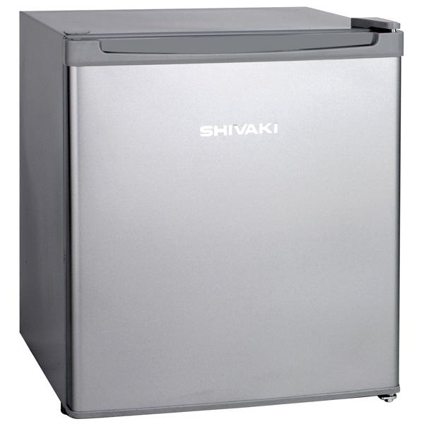 Холодильник однодверный ShivakiОднодверные холодильники<br>Перенавешиваемые двери: Да,<br>Объем морозильной камеры: 4 л,<br>Габаритные размеры (В*Ш*Г): 51*44*47 см,<br>Полок в холодильной камере: 1,<br>Материал двери: металл,<br>Вес: 15 кг,<br>Мощность замораживания: 0.5 кг/сутки,<br>Общий объем: 42 л,<br>Открытие дверцы: налево,<br>Уровень шума: 41 дБ,<br>Климатический класс: N-ST,<br>Хранение при откл. питания: 3 ч,<br>Тип компрессора: стандартный,<br>Разм. мороз. камеры: ручное,<br>Тип управления: механический,<br>Цвет: серебристый,<br>Гарантия: 1 год,<br>Количество дверей: 1,<br>Страна: Россия<br>