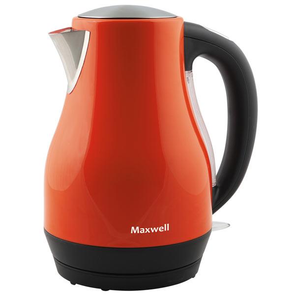 Электрочайник MaxwellЭлектрические чайники<br>Материал корпуса: металл,<br>Базовый цвет: другие цвета,<br>Отключение при отсутствии воды: Да,<br>Страна: КНР,<br>Фильтр от накипи: синтетический,<br>Вид гарантии: гарантийный талон,<br>Тип управления: механический,<br>Потребляемая мощность: 2200 Вт,<br>Цвет: красный/черный,<br>Вес: 1.2 кг,<br>Индикатор уровня воды: Да,<br>Индикация включения: Да,<br>Отключение при закипании: Да,<br>Максимальный объём: 1.7 л<br><br>Вес кг: 1.2<br>Цвет : красный/черный