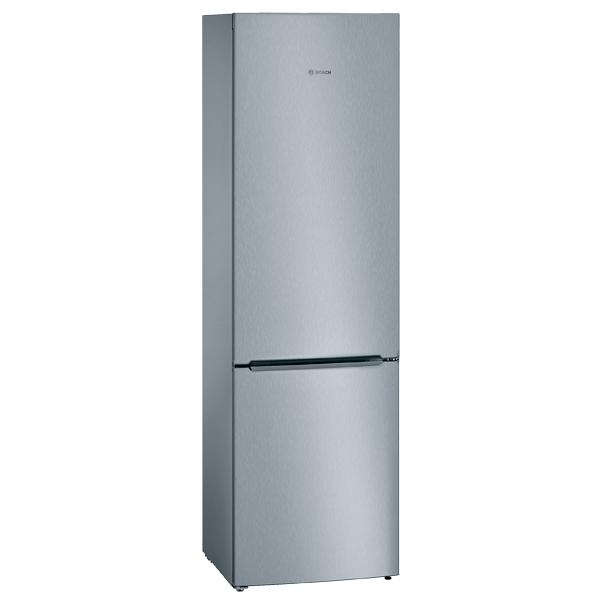 Холодильник с нижней морозильной камерой BoschХолодильники с нижней морозильной камерой<br>Цвет: нерж. сталь,<br>Тип компрессора: стандартный,<br>Режим суперзамораживания : автоматический,<br>Перенавешиваемые двери: Да,<br>Количество камер: 2,<br>Вид гарантии: по чеку,<br>Количество компрессоров: 1,<br>Полок на двери хол. камеры: 4,<br>Разм. холод. камеры: автомат.(капельное),<br>Класс энергоэффективности: A+,<br>Базовый цвет: Нерж. сталь,<br>Гарантия: 1 год,<br>Энергопотребление в год: 292 кВтч,<br>Общий объем: 352 л,<br>Страна: Россия,<br>Тип освещения: светодиодное,<br>Регул. влаж. в отд. д/овощей и фруктов: Да<br>