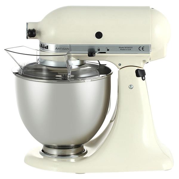 Кухонная машина KitchenAidКухонные машины<br>Объем чаши: 4.8 л,<br>Насадка для замешив. теста: Да,<br>Кожух для защиты от брызг: Да,<br>Отключ. при открытой крышке: Да,<br>Вес: 10.6 кг,<br>Серия: Artisan,<br>Отключение при перегреве: Да,<br>Отсек для сетевого шнура: Да,<br>Планетарное движение насадок: Да,<br>Длина сетевого шнура: 1.4 м,<br>Тип управления: механический,<br>Плавный запуск двигателя: Да,<br>Материал корпуса: металл,<br>Книга рецептов: Да,<br>Страна: США,<br>Материал чаши: металл,<br>Потребляемая мощность: 300 Вт,<br>Вид гарантии: гарантийный талон<br><br>Вес кг: 10.6<br>Цвет : кремовый