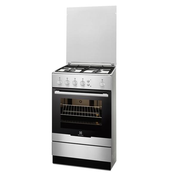 Газовая плита (50-55 см) ElectroluxГазовые плиты (50-55 см)<br>Объем духовки: 61 л,<br>Тип духовки: газовый,<br>Максимальная температура: 250 *С,<br>Внутреннее покрытие: эмаль,<br>Гарантия: 1 год,<br>Страна: Румыния,<br>Электроподжиг конфорок: механический,<br>Таймер отключения конфорок: Нет,<br>Плоский противень: 1 шт,<br>Глубокий противень : 1 шт,<br>Решетка: чугунная,<br>Металлическая решетка: 1 шт,<br>Крышка варочн. поверхности: стеклянная,<br>Высота: 85.5 см,<br>Стекло дверцы духовки: 2-слойное,<br>Ширина: 50 см,<br>Глубина: 60 см,<br>Цвет: нерж. сталь,<br>Газконтроль духовки: Да,<br>Базовый цвет: нерж. сталь<br>