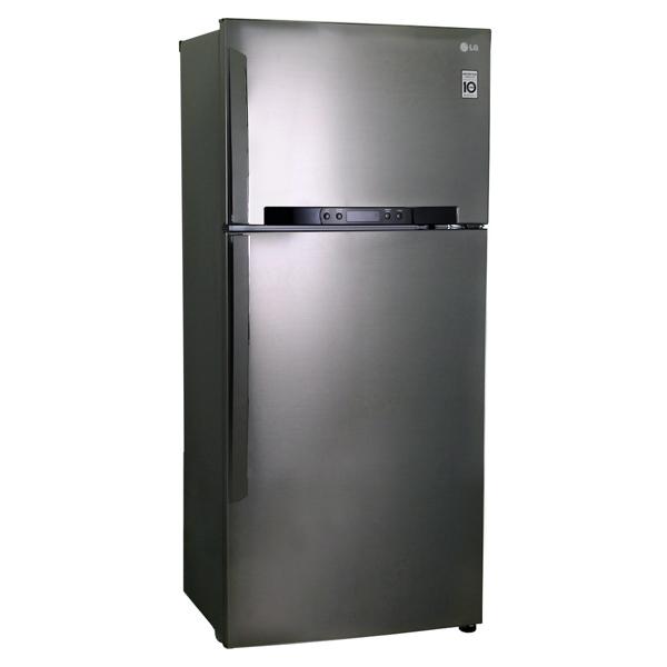 Холодильник с верхней морозильной камерой Широкий LG GN-M702HMHM