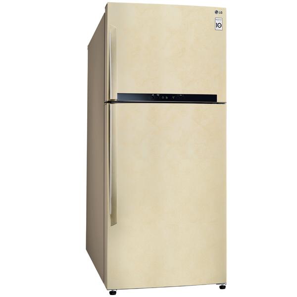 Холодильник с верхней морозильной камерой Широкий LG GN-M702HEHM