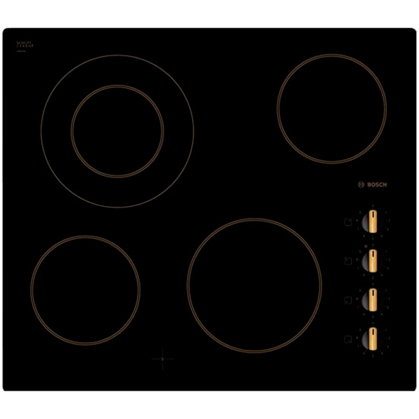 Встраиваемая электрическая панель BoschВстраиваемые электрические панели<br>Цвет: черный,<br>Тип управления: механический,<br>Ширина: 592 мм,<br>Расширение зоны нагрева: на 1-й конф.,<br>Глубина: 522 мм,<br>Тип конфорок: HiLight,<br>Размещение панели управ.: справа,<br>Страна: Германия,<br>Количество конфорок: 4,<br>Потребляемая мощность: 6600 Вт,<br>Ближняя, правая конфорка: 18 см,<br>Дальняя, левая конфорка: 14/21 см,<br>Стеклокерамическая поверх.: Да,<br>Вес: 8 кг,<br>Дальняя, правая конфорка: 14.5 см,<br>Размер ниши (Ш*Г): 560*490 мм,<br>Варочная панель: независимая,<br>Ближняя, левая конфорка: 14.5 см<br><br>Вес кг: 8<br>Ширина мм: 592<br>Глубина мм: 522<br>Цвет : черный