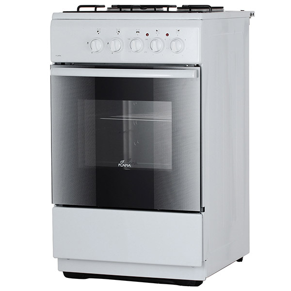 Газовая плита (50-55 см) Flama RK2213 White